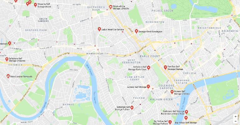 Storage in west London
