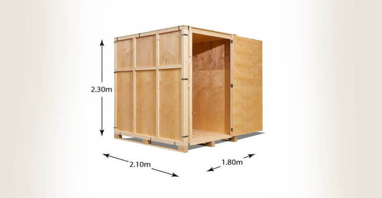 dimensions of storage container