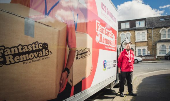 a mover with a Luton van for removals