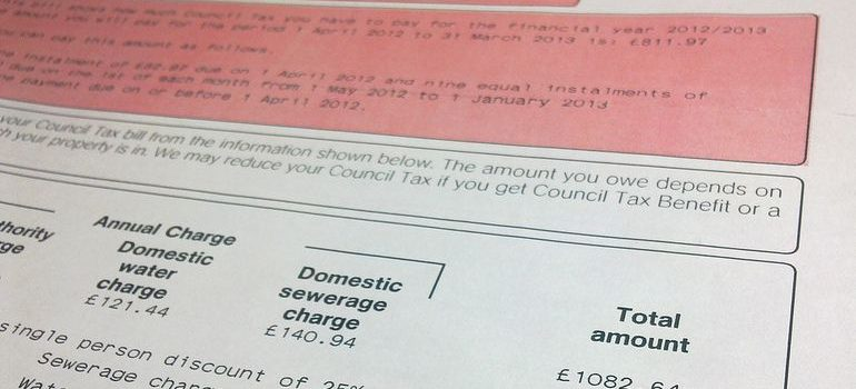Council tax form when moving house