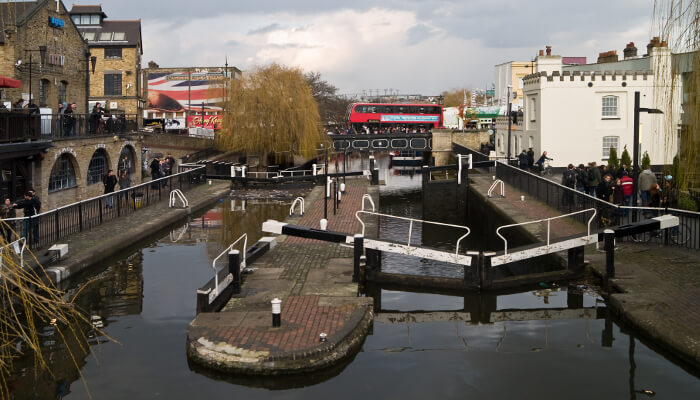 Camden Lock - one of the best places to live in North West London in your 20's
