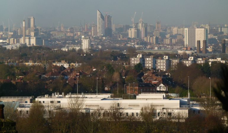 View of South London from Shooters Hill