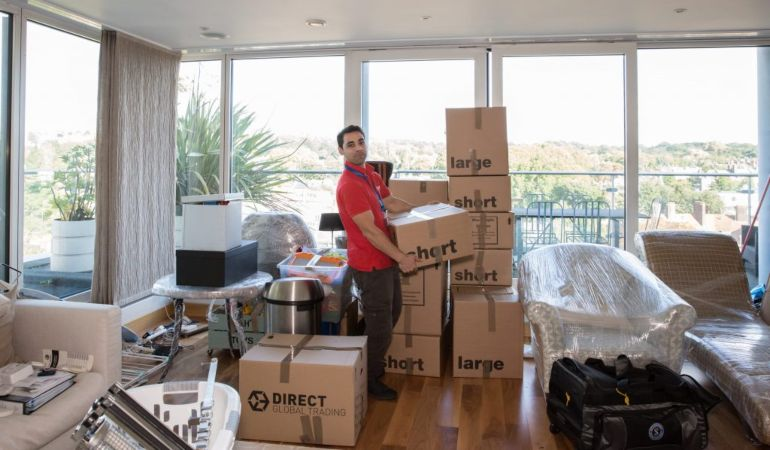 Home removals professional by Fantastic Removals moving boxes