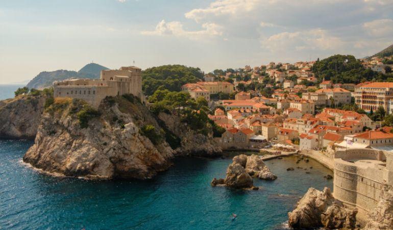 Cliffs in the city of Dubrovnik in Croatia