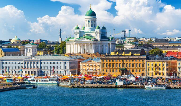 A view of the Helsinki Cathedral in Finland