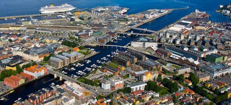 Port of Trondheim in Norway