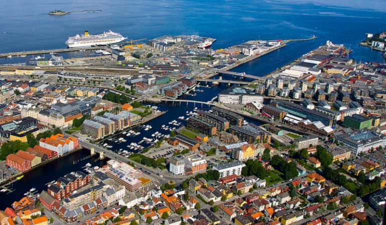Port of Trondheim in Norway