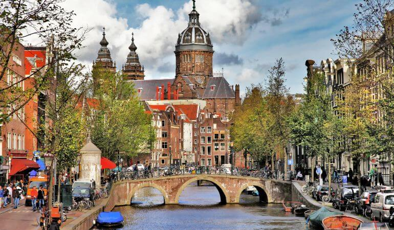 A picture of the Amsterdam Canals
