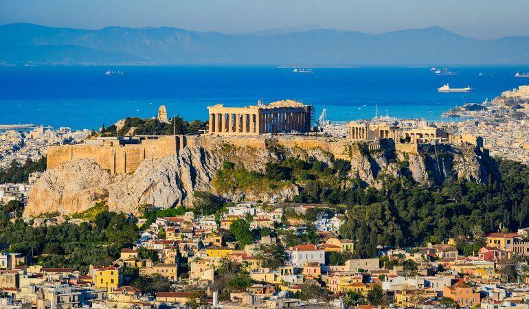 Acropolis and Parthenon in Athens, Greece