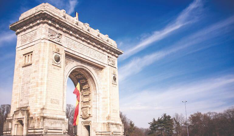 The Arcul de Triumf in Bucharest