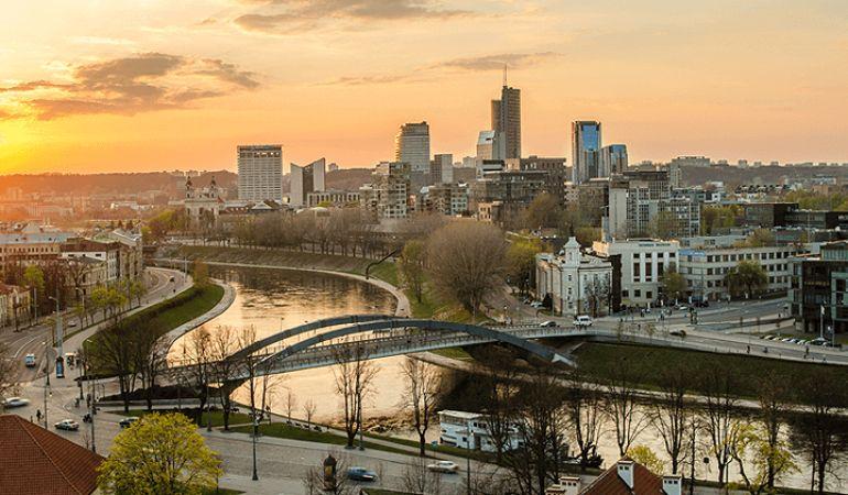 Cityscape of Vilnius, Lithuania