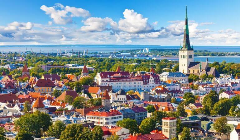 The old town in Tallinn, Estonia