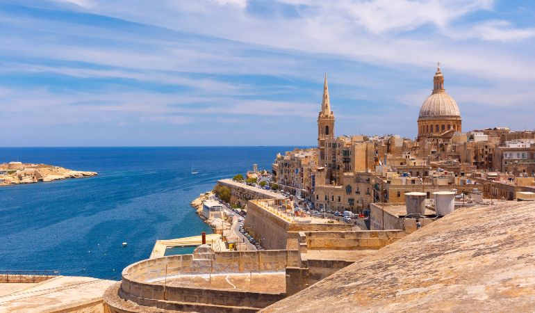 Views of the city of Valletta and its Grand Harbour