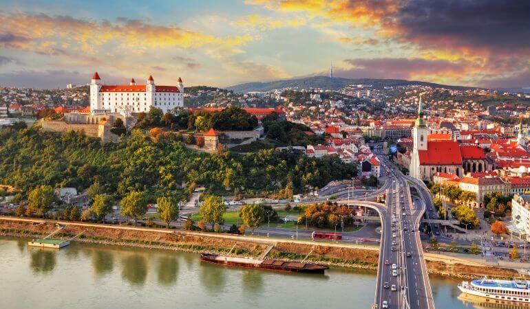 A veiw of Bratislava Castle, Slovakia