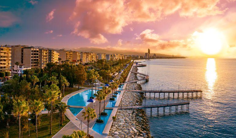 Evening panorama of Limassol, Cyprus