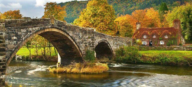 llanwrst Bridge, Snowdonia, North Wales, UK