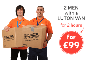 2 Men with a Luton Van for 2 Hours for Only £99