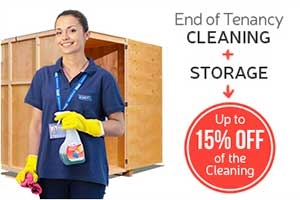 End of Tenancy Cleaning + Storage = 15% OFF the Cleaning Service